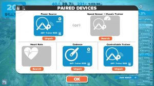 Zwift device pairing
