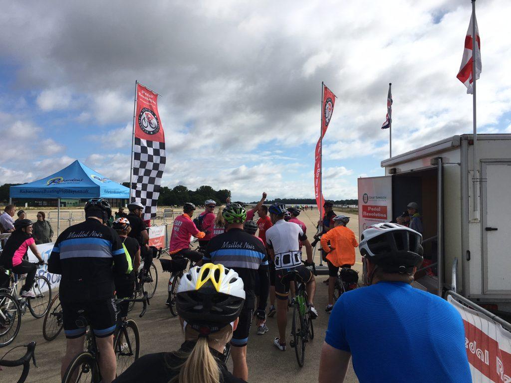 Tour de Broads - start line
